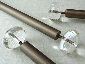 classic brushed bronze curtain poles in 30mm by walcot house. Antique brass curtain pole, traditional, classic, modern