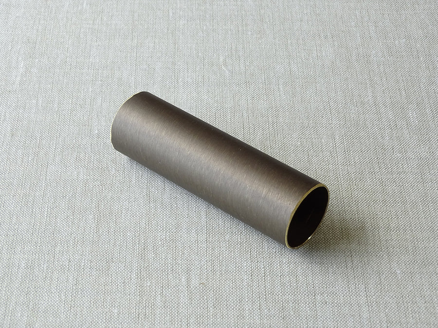 sample of 19mm dia. brushed bronze curtain pole - by Walcot House