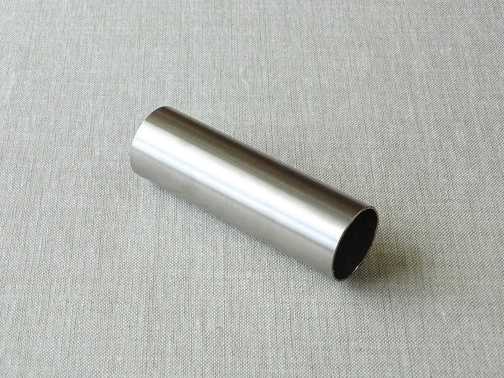 sample of 30mm dia. stainless steel curtain pole - by Walcot House