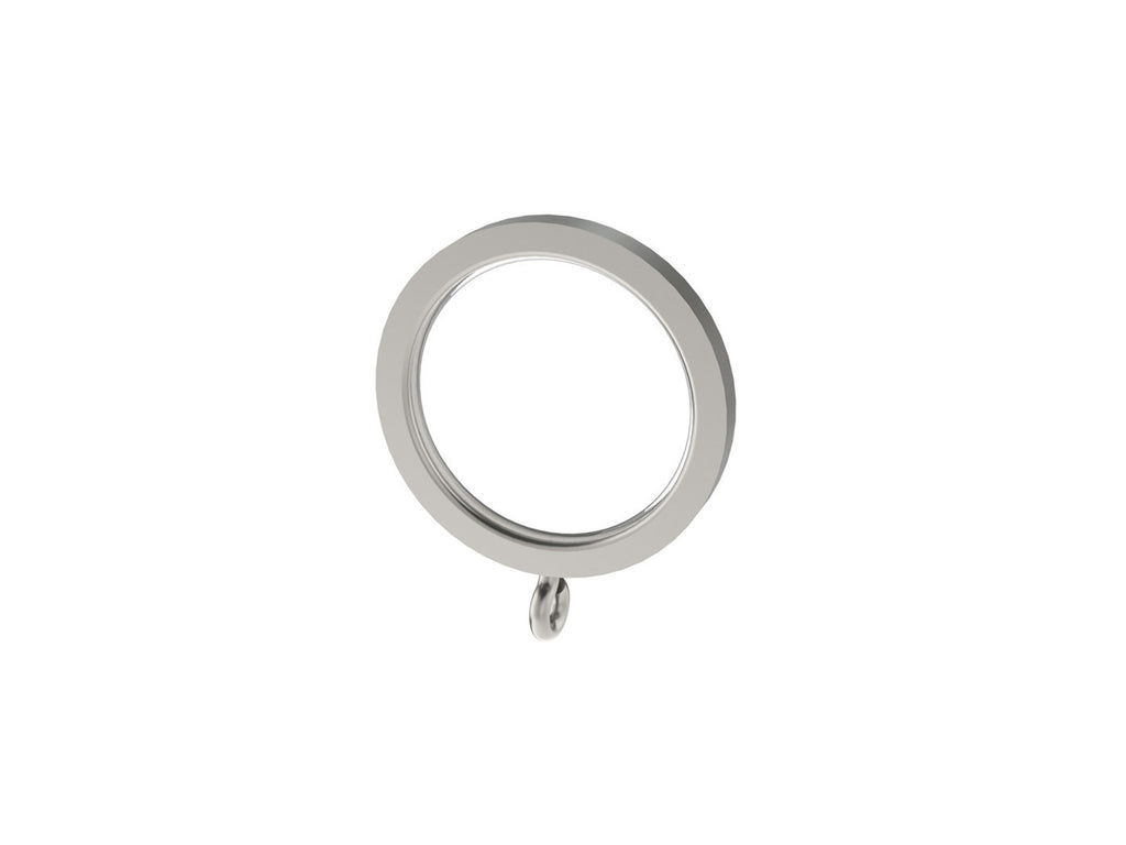 Stainless steel 30mm flat section curtain ring for 30mm stainless steel curtain pole sets