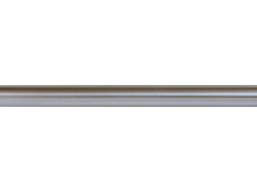 Beautiful stainless steel curtain poles by Walcot House