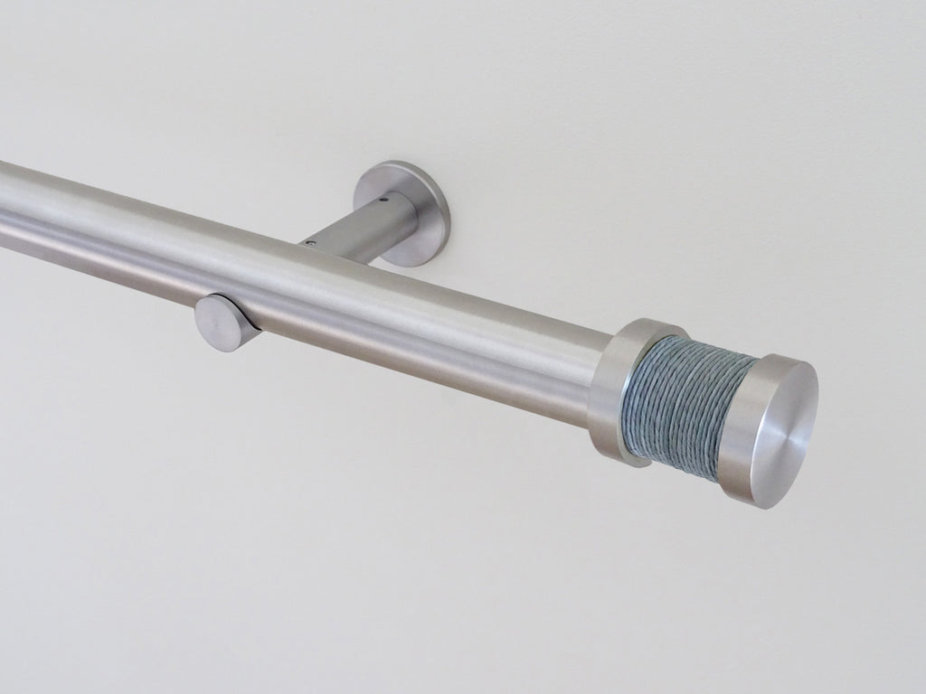 30mm diameter stainless steel curtain pole collection with dolphin twine Groove finials