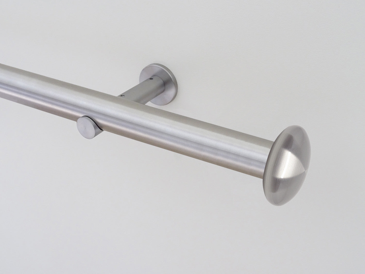 30mm dia. stainless steel curtain pole with elliptical finials ...