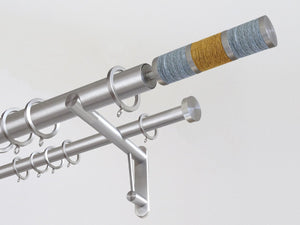 30mm diameter stainless steel double curtain pole system with coast Combination finials