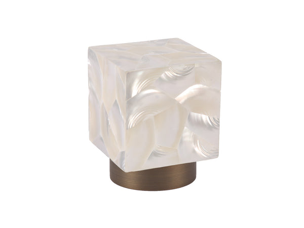 Riva shell troca satin finial stainless steel 50mm | Walcot House Designer Finials