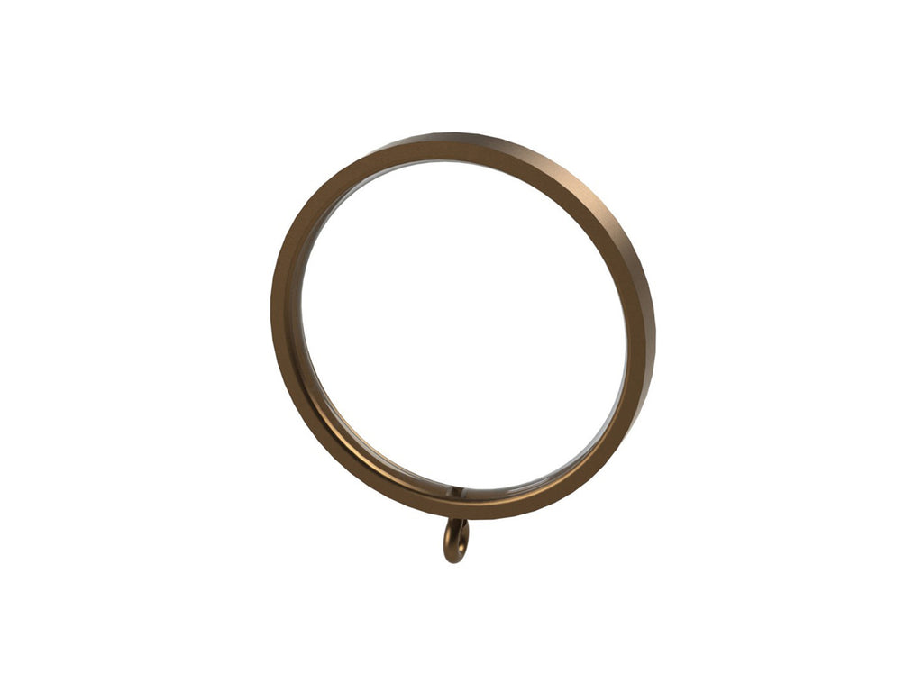 Bronze 50mm flat section curtain ring for 50mm bronze or wooden curtain pole