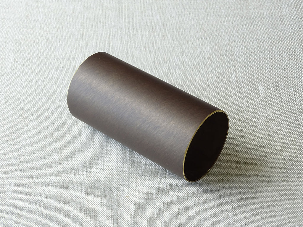 sample of 50mm dia. brushed bronze curtain pole - by Walcot House
