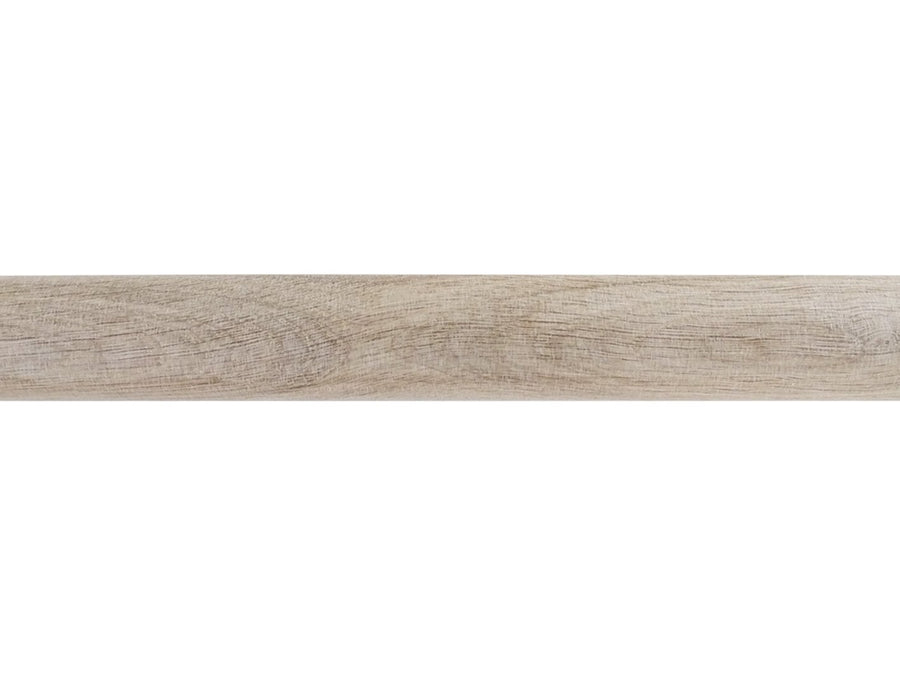 50mm dia. tracked unfinished real solid oak curtain pole