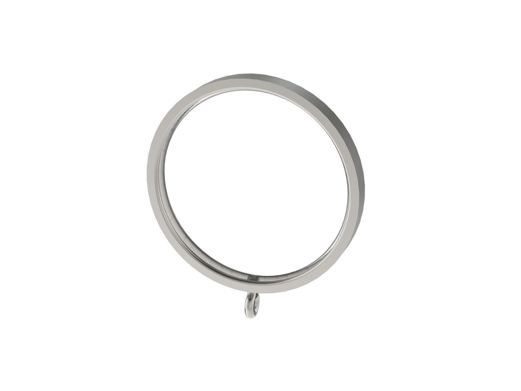 Stainless steel 50mm flat section curtain ring for 50mm steel or wooden curtain pole
