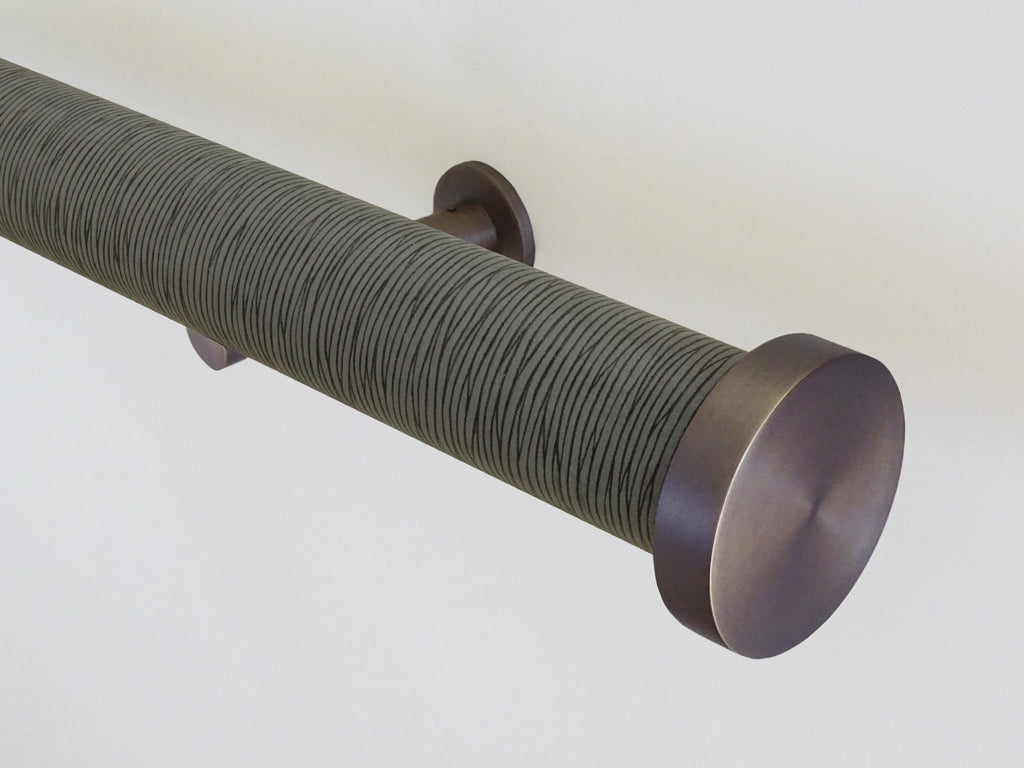 "Striped ""Agate"" 50mm tracked curtain pole by Walcot House"