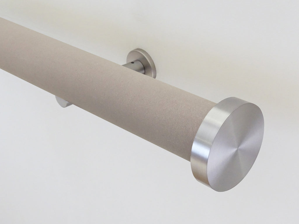 Faux Suede Fawn 50mm tracked curtain pole by Walcot House