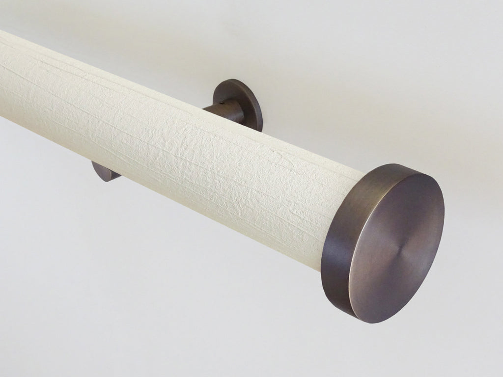 """Parchment"" textured 50mm tracked curtain pole by Walcot House"