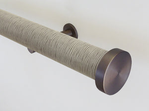 "Striped ""Shale"" 50mm tracked curtain pole by Walcot House"
