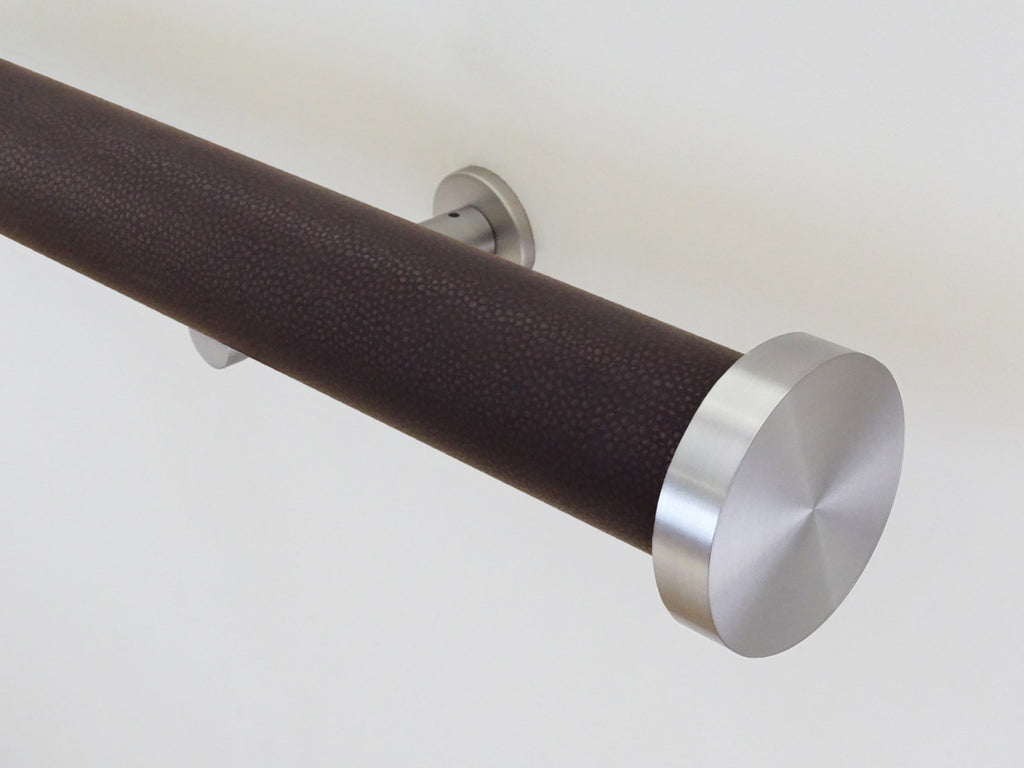 """Tennessee"" textured 50mm tracked curtain pole by Walcot House"