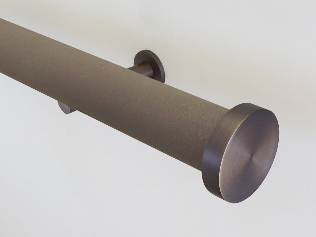 Faux Suede Vole 50mm tracked curtain pole by Walcot House