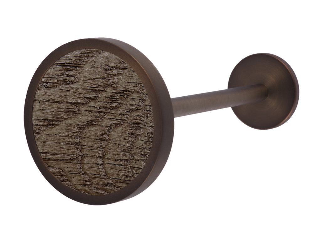 Bronze curtain tie back in brazil nut brown
