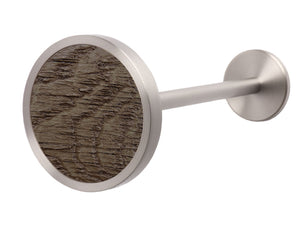 Stainless steel metal curtain tie back in brazil nut brown