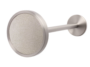 Silver curtain hold back in gold dust
