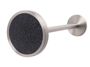 Stainless Steel metal curtain hold back in jet black