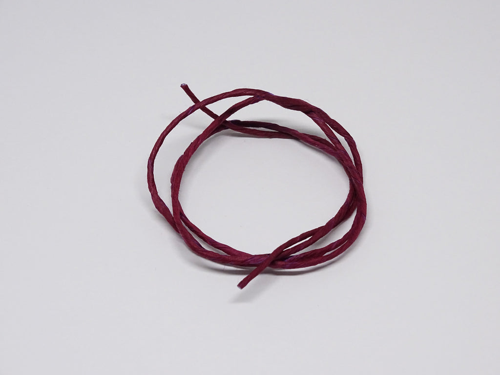 Loganberry coloured twine sample