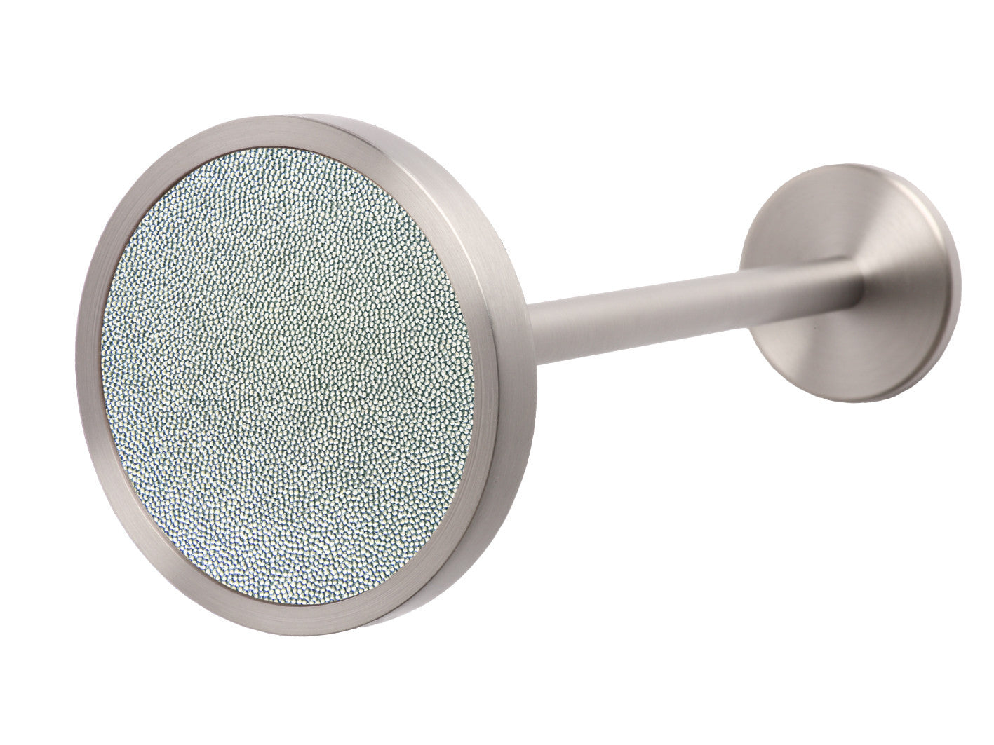 Stainless Steel Curtain Hold Back In Moonlight Blue