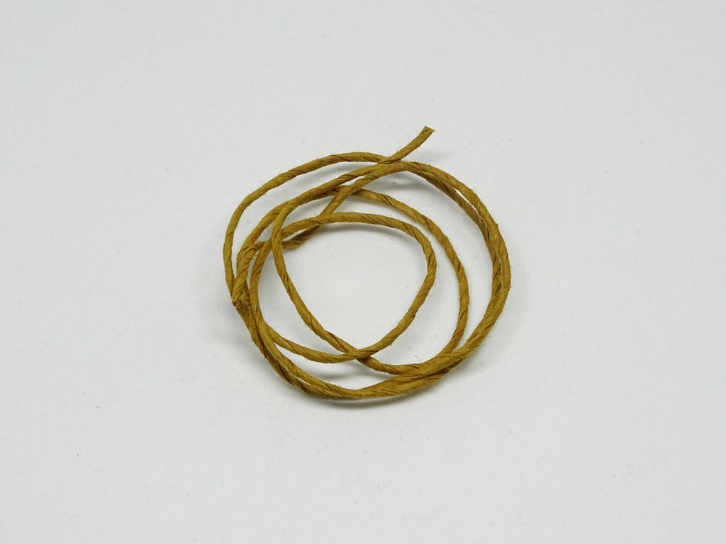 Old Gold coloured twine sample