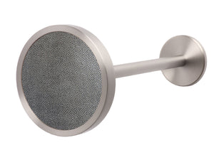 Stainless steel metal curtain tie back in silver onyx
