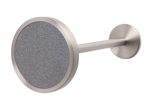 Stainless Steel metal curtain hold back in oyster grey