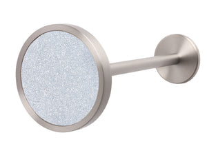 Stainless Steel metal curtain hold back in pearl white