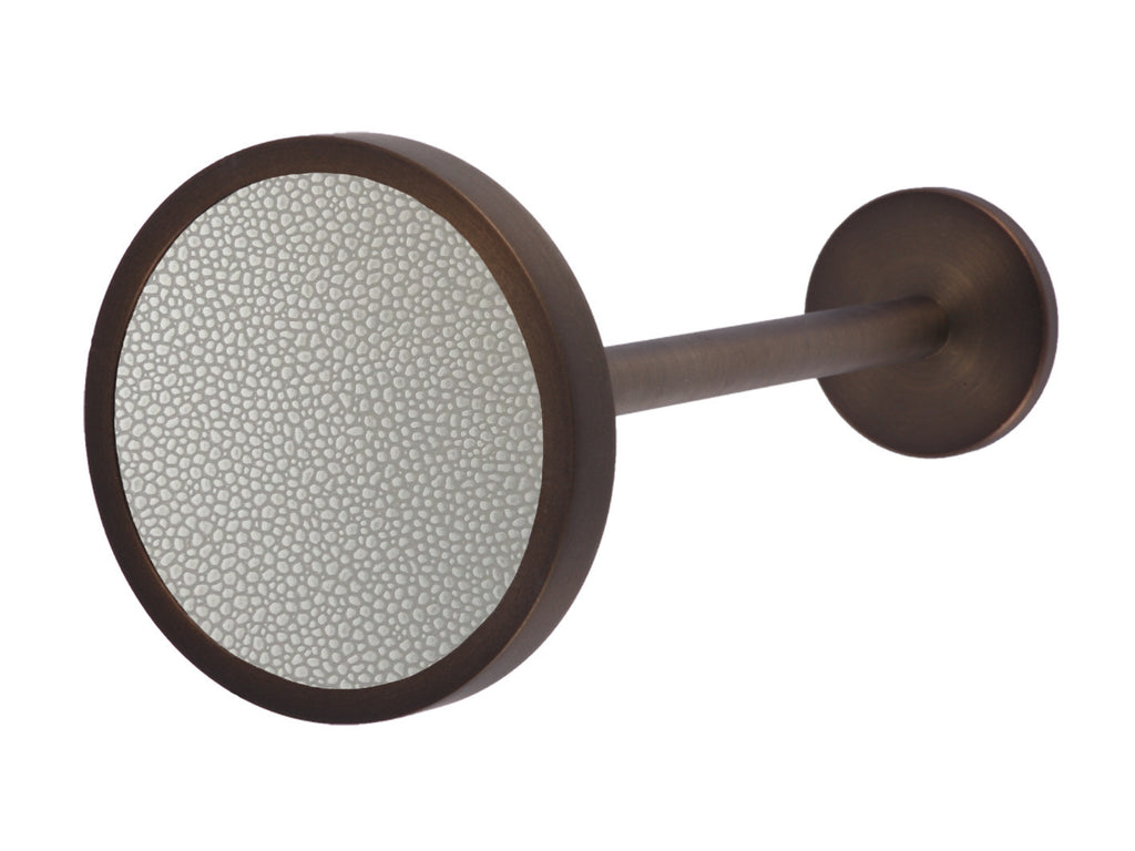 Bronze curtain tie back in pebble grey