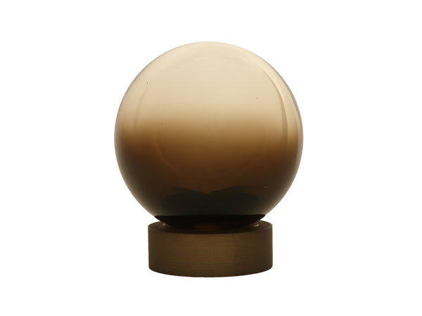 Hand Blown Glass Float Finial for 50mm pole in Sepia