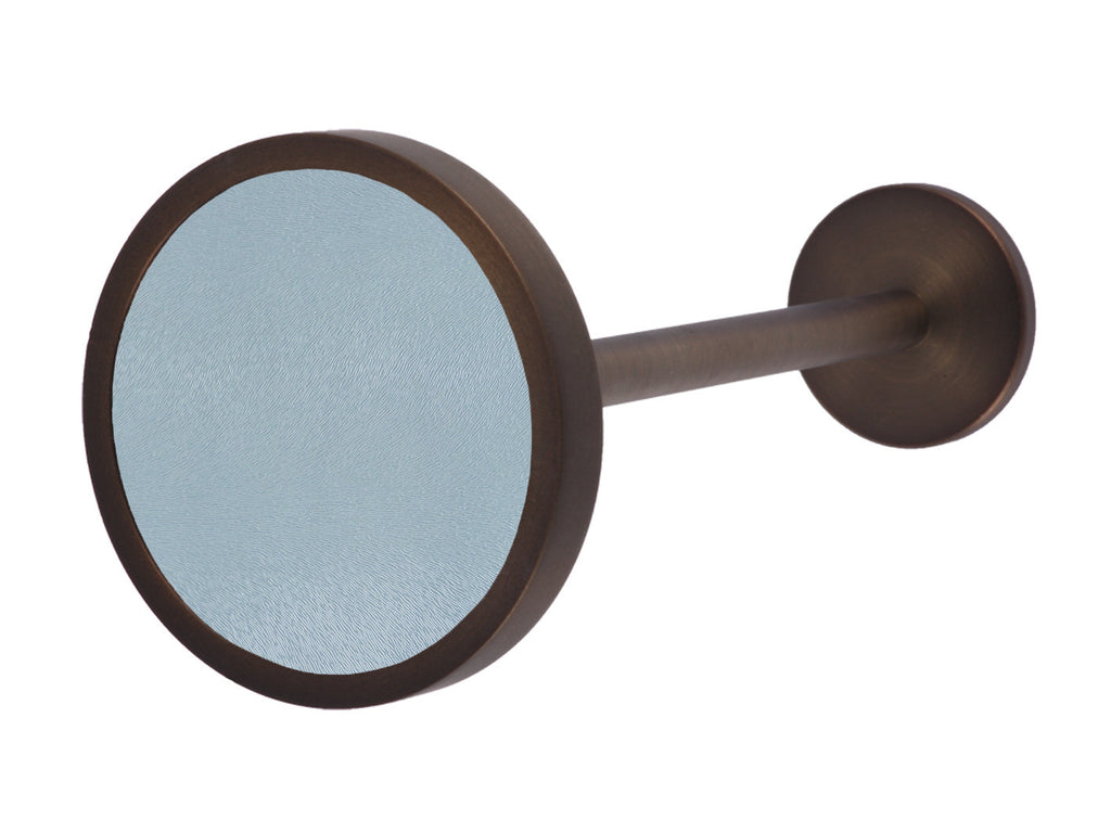 Bronze curtain tie back in sky blue