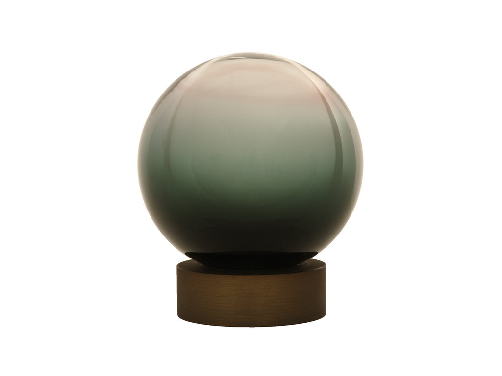 Hand Blown Glass Float Finial for 50mm pole in Smoke