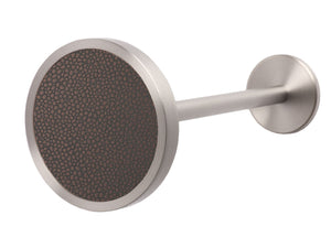 Stainless steel metal curtain tie back in tennessee bronze