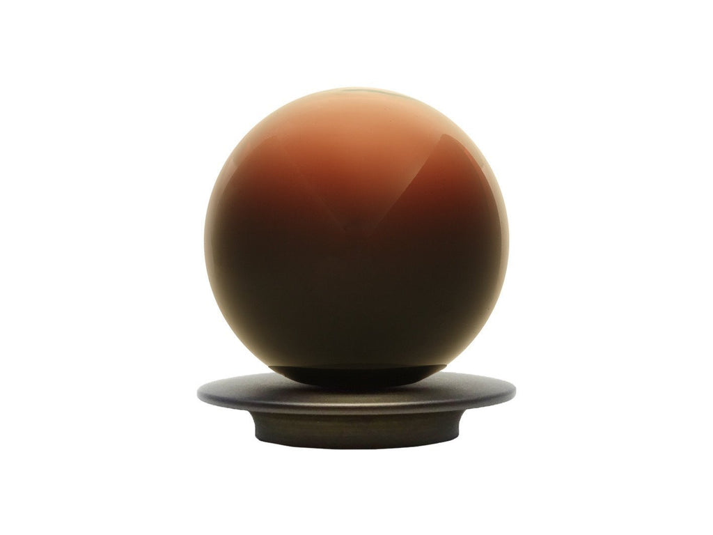 Hand Blown Glass Float Finial for 50mm pole in Umbra
