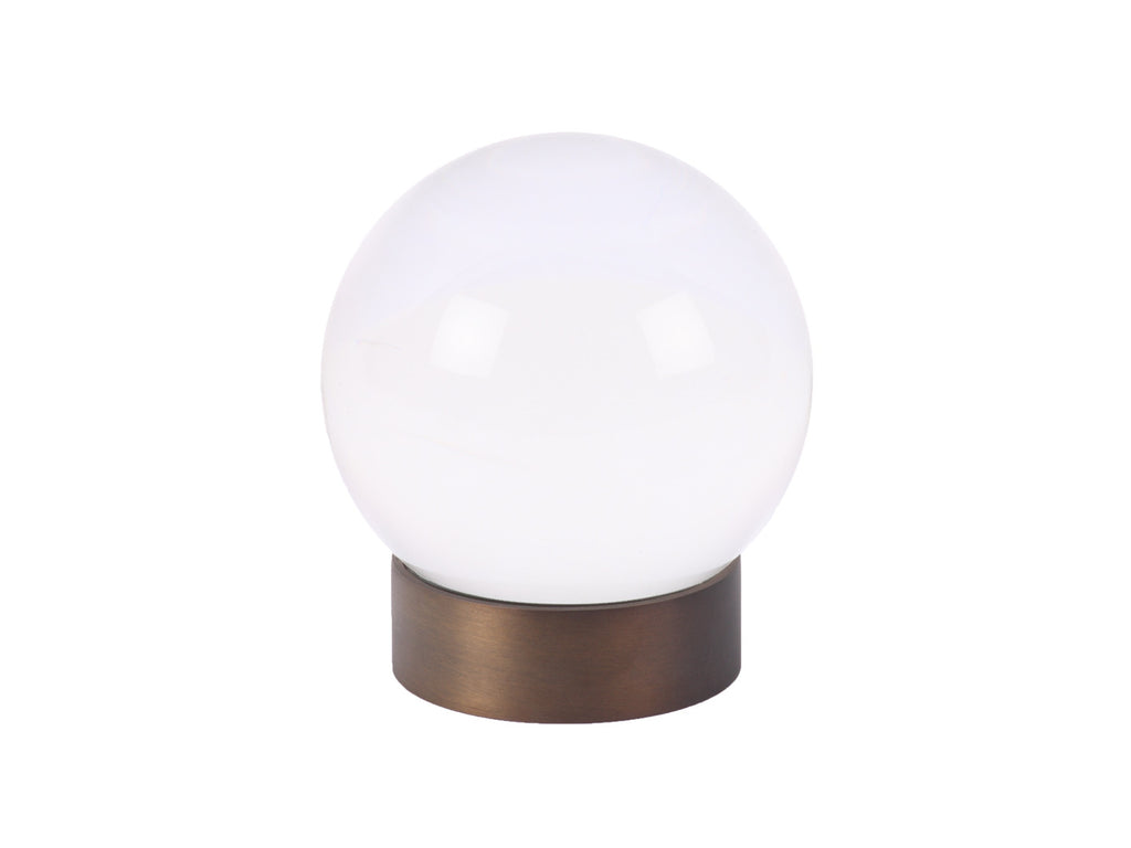 acrylic clear perspex curtain pole sphere finial by Walcot House