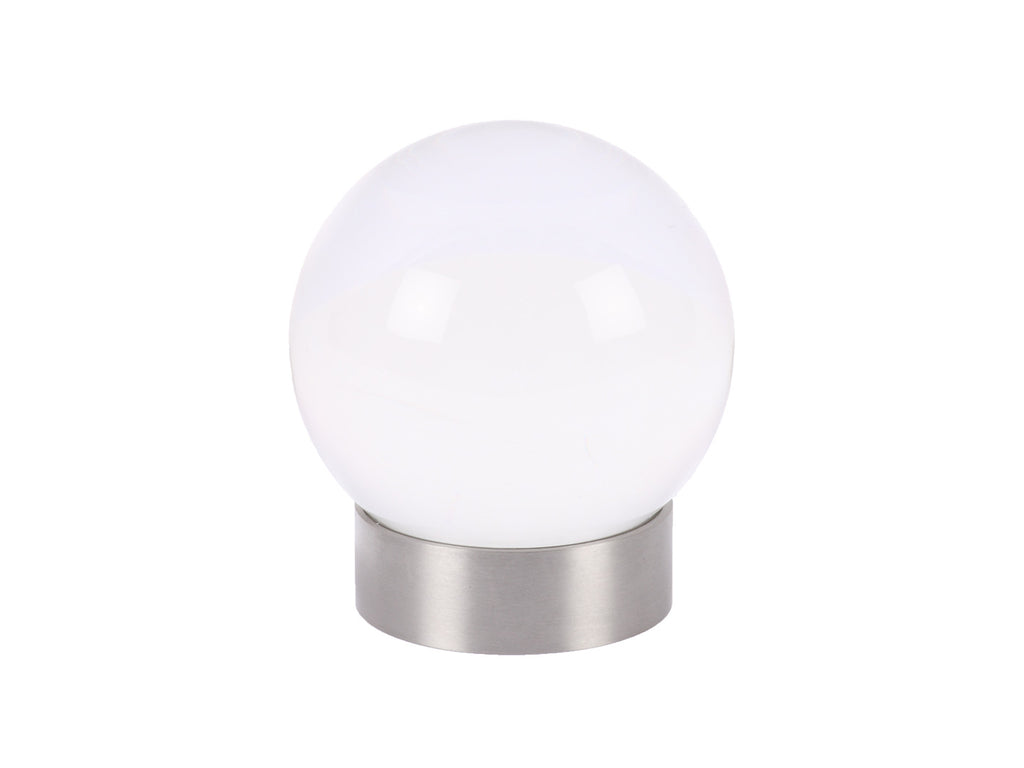 acrylic clear perspex curtain pole ball finial by Walcot House