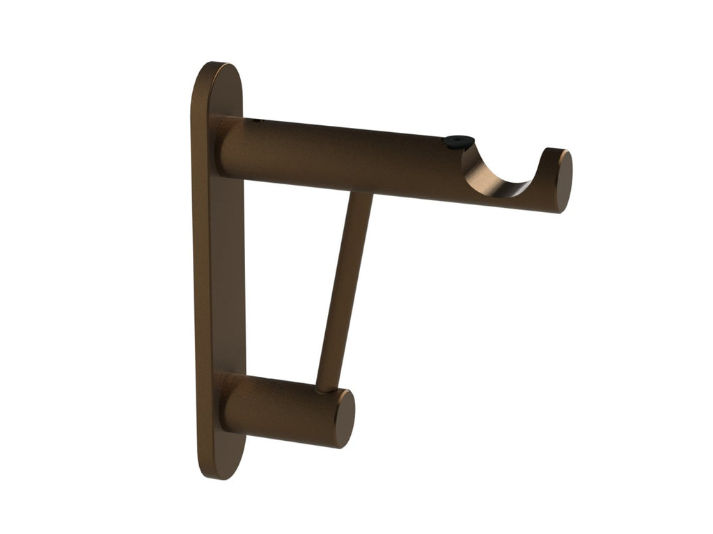 Architrave bracket for 19mm dia. curtain pole