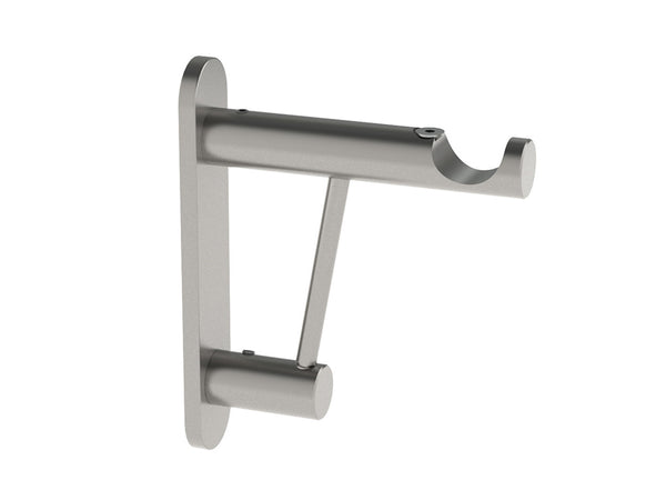Strong bracket for heavy curtain poles - 19mm curtain poles in stainless steel