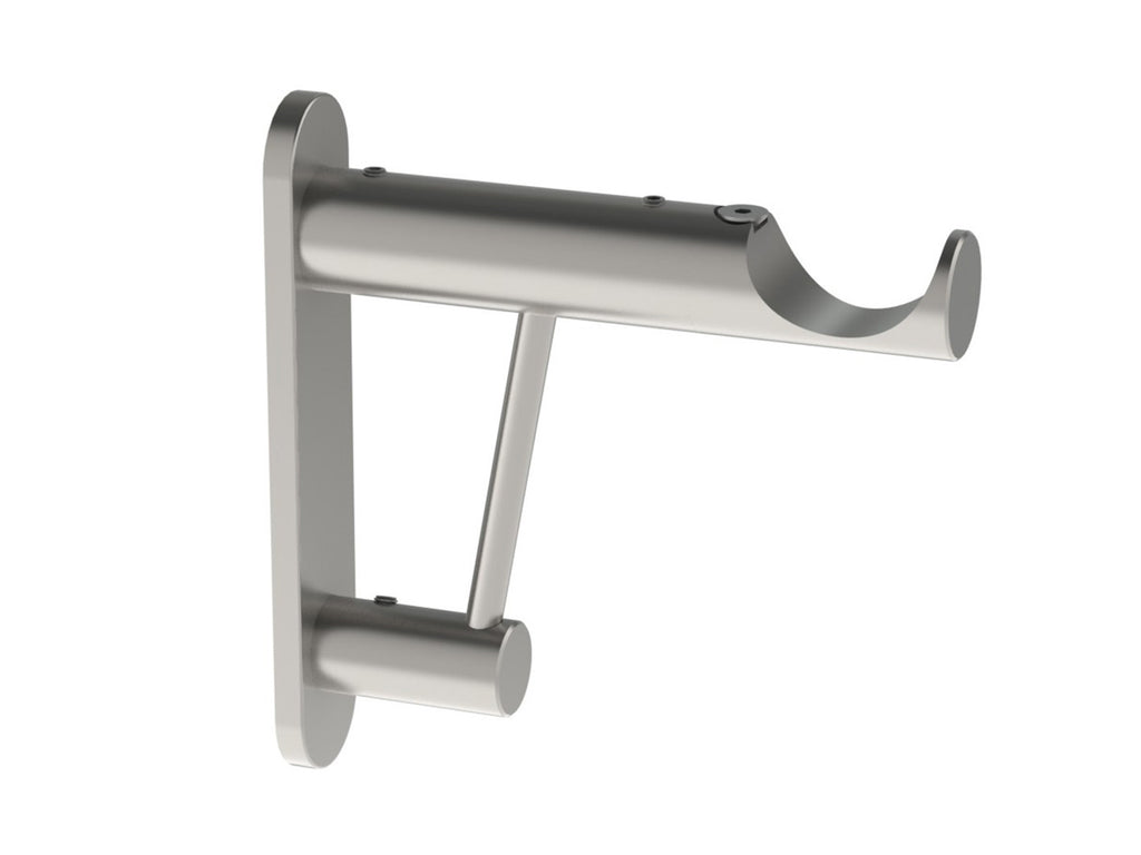 Stainless Steel extra support arm & curtain pole bracket for heavy curtains