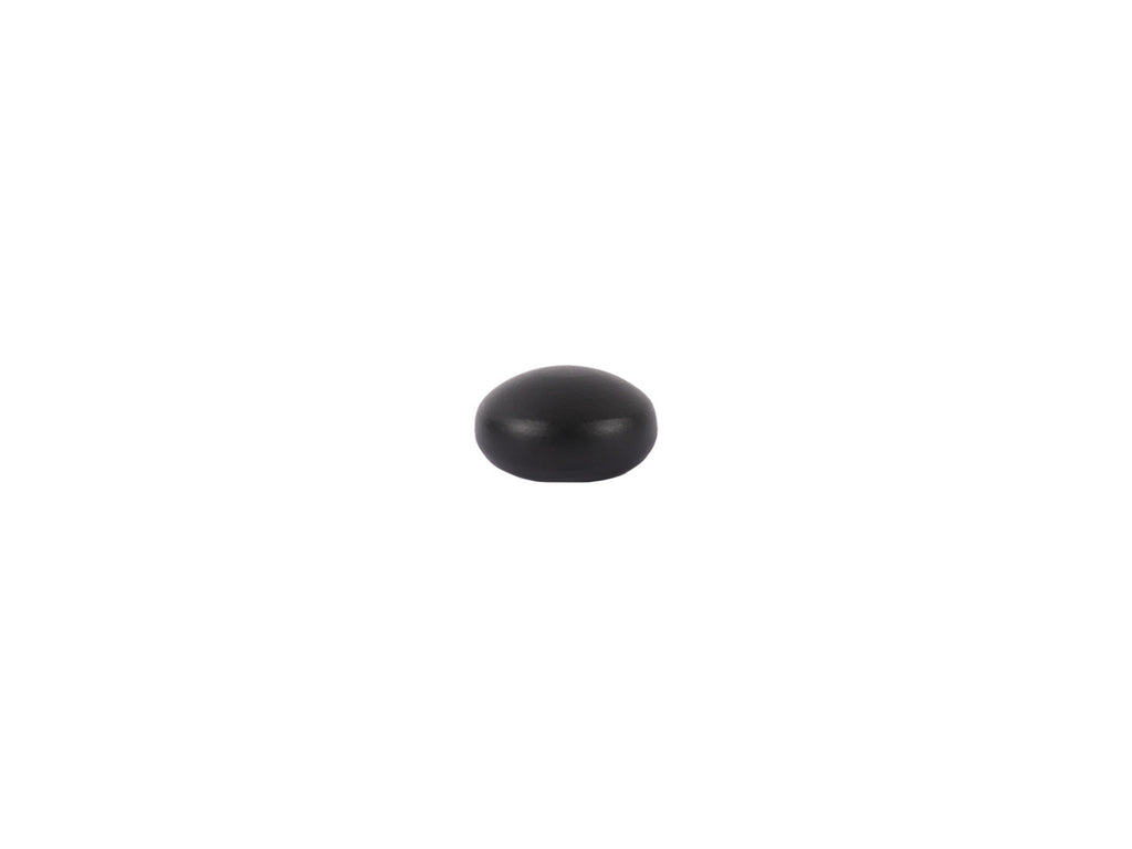 Elliptical Finial in black for 19mm curtain pole end