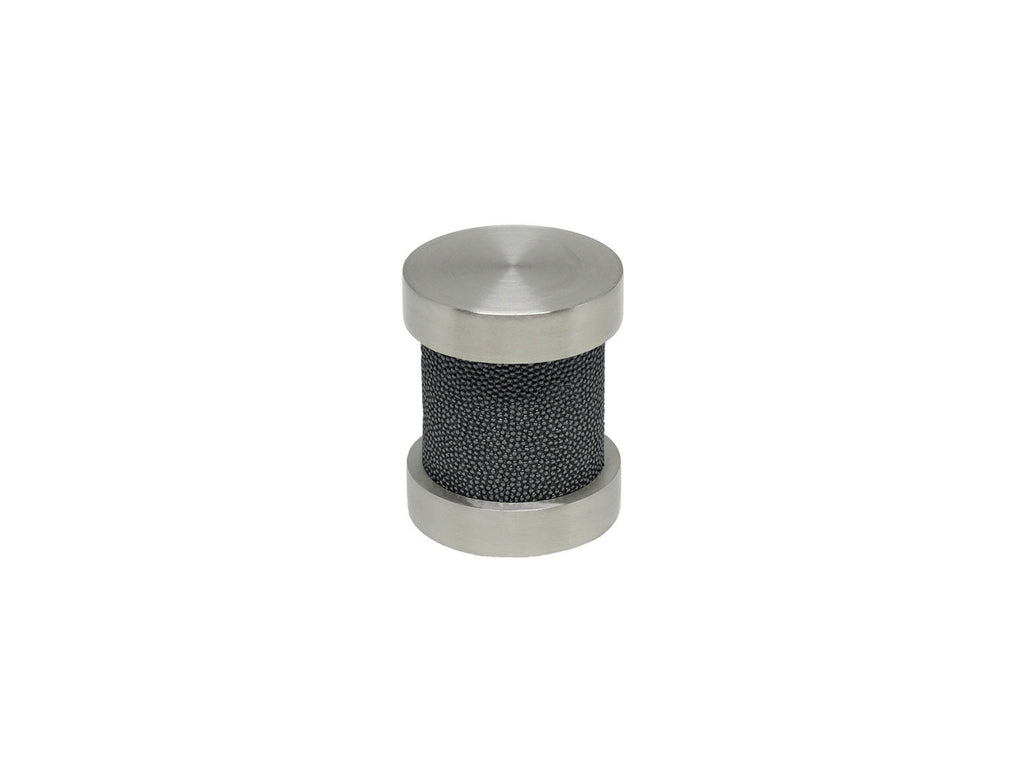 Black pepper groove finial | Walcot House 30mm stainless steel collection