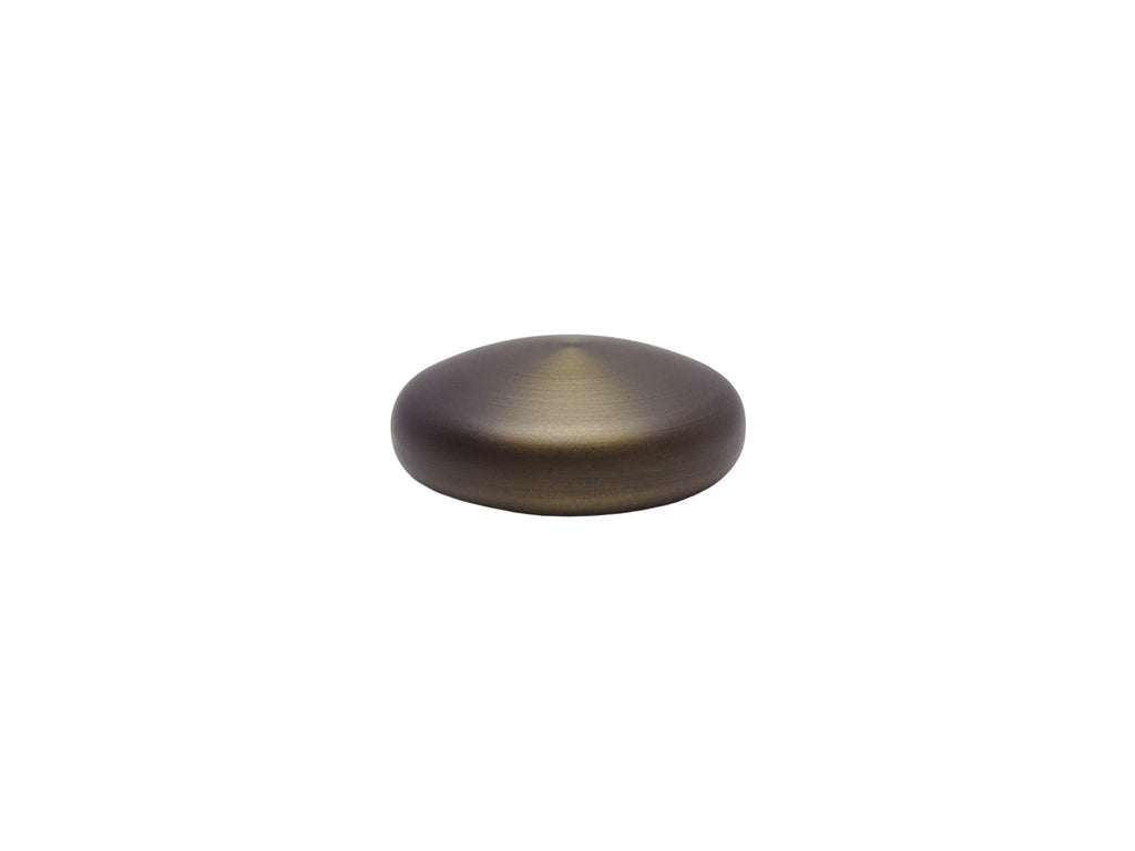 Elliptical finial in brushed bronze for 30mm dia. Curtain Pole