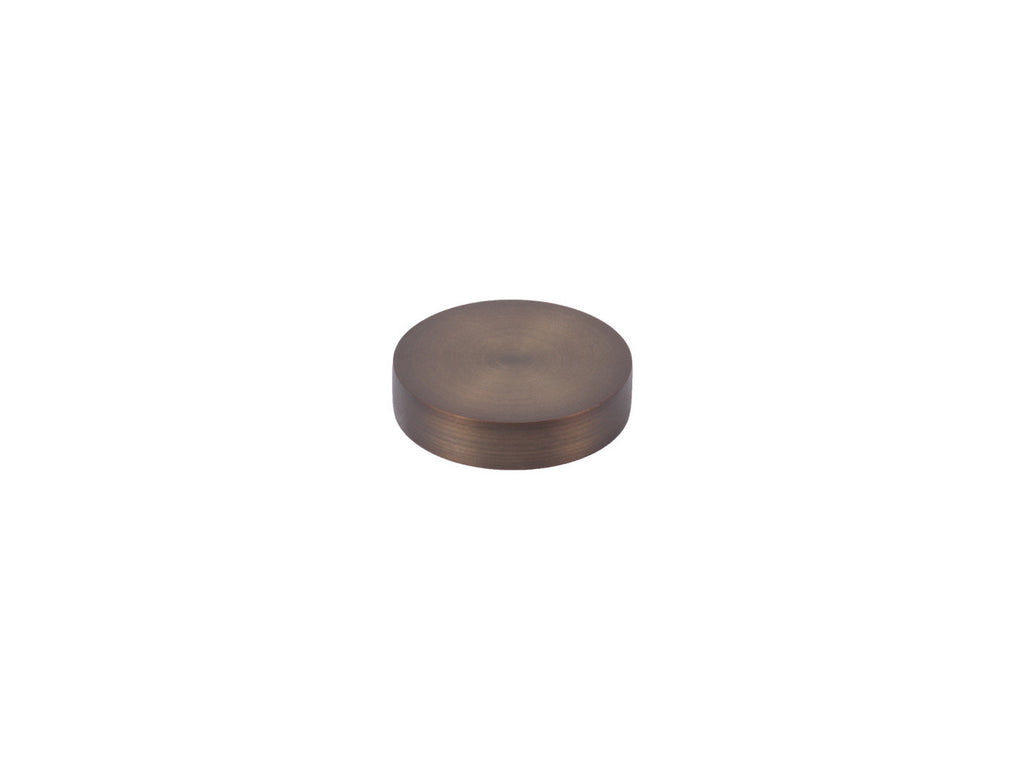 30mm mini disc finial in brushed bronze curtain pole end