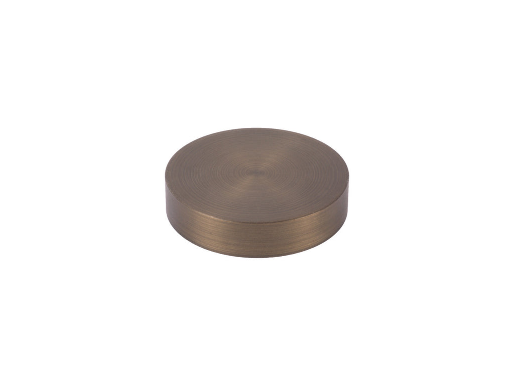 50mm mini disc finial brushed bronze curtain pole end