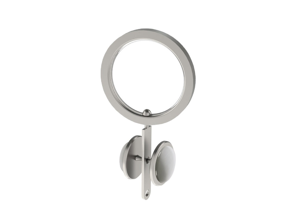 Cloud grey coloured glass moonstone rivet | Walcot House rivet curtain heading for 30mm poles