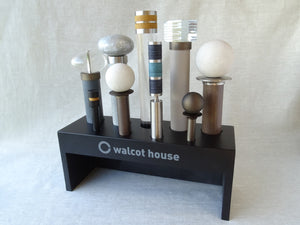 curtain poles countertop display block by Walcot House