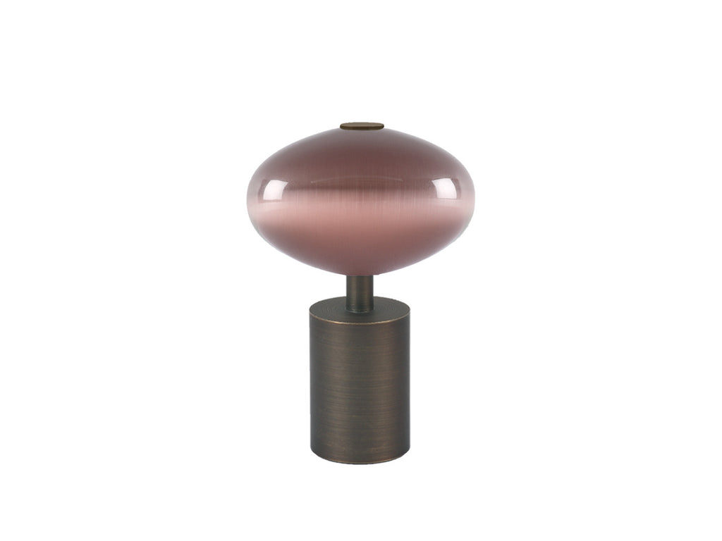 Glass moonstone finial in crocus pink | Walcot House 30mm collection