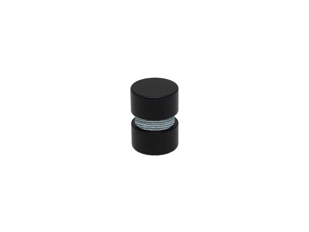 Blue dolphin curtain pole finial, black groove, for 19mm diameter curtain pole