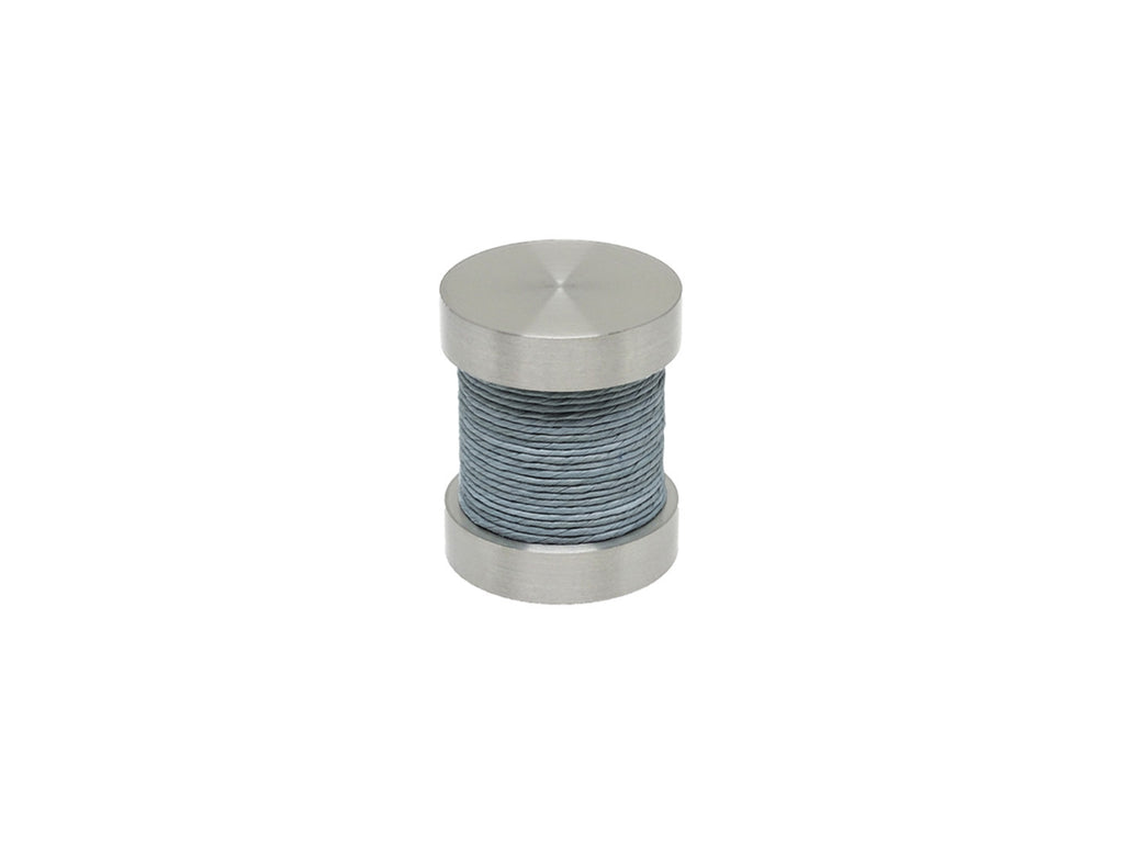 Dolphin grey coloured twine groove finial | Walcot House 30mm stainless steel collection